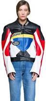 racing biker jacket vetements tricolor leather racing jacket lyst
