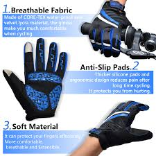 gore tex winter cycling jacket winter cycling gloves windproof touch recognition full finger