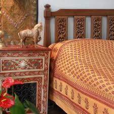 Indian Print Duvet Amazon Com Indian Summer Orange Paisley India Sari Print Queen