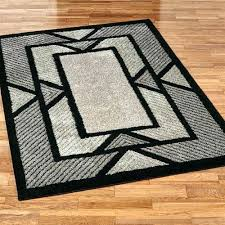 Black Modern Rugs White Rug With Black Border Tapinfluence Co