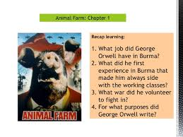 chapter 1 language techniques animal farm george orwell