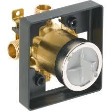 delta classic chrome single knob pressure balanced shower control