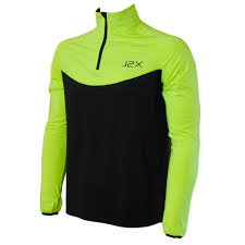 hi vis cycling jacket j2x fitness sprint 1 4 zip hi viz running high visibility long