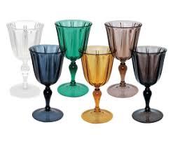 bicchieri bianchi e neri dalani calici di plastica per il vino e i dessert