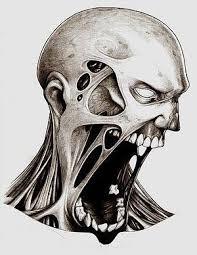 tattoo ideas zombie screaming zombie tattoo sketch best tattoo designs
