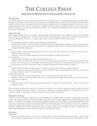 cover letter example of college essay format example of college