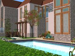 2 Story House With Pool Mod The Sims 2 Honey Lane A Two Story House With 3 Bedrooms