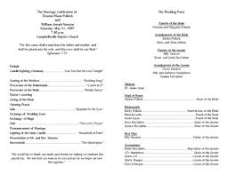 ceremony program templates wedding ceremony program template ayudapsicologicaci