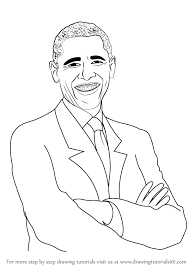 learn how to draw barack obama politicians step by step