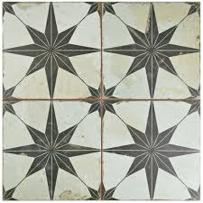 merola tile kings star nero 17 5 8 in x 17 5 8 in ceramic floor