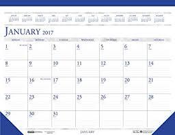 desk pad calendar 2017 amazon com house of doolittle 2017 monthly desk pad calendar