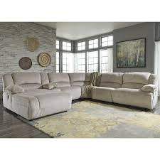 signature design by ashley toletta granite reclining sectional