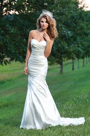 style 3666 ruched charmeuse mermaid dress sincerity bridal