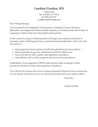 Sample Registered Nurse Resume Cover Registered Nurse Resume Cover Letter