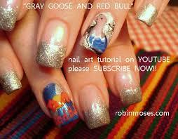 gray goose nail art red bull nail art colorful rainbow ladybugs