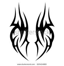 tribal tattoo art designs sketched simple stock vector 650145049