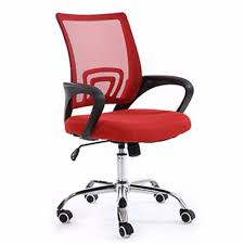 mid back mesh office chair with lumbar support red lazada malaysia