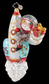 radko sky rocket santa space age astronaut ornament radko