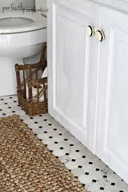 Painting A Jute Rug Cottage Guest Bathroom Reveal Perfectly Imperfect Blog