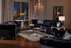 Tufted Sofa Velvet by Avenleigh Black Velvet Tufted Sofa