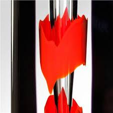 Black And Red Vase Dusk Art Glass Vase Black And Red