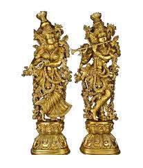 lord radha krishna statue for your home decoration brass metal