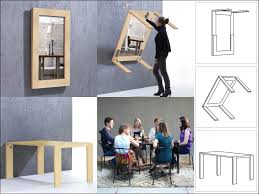 Mirror Dining Table by Ivydesign Foldaway Dining Table Turns Into Mirror Frame