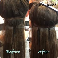 Hair Extensions Tape by Grown Out Tape Extensions Approx 10 Weeks And Then Re Taped With