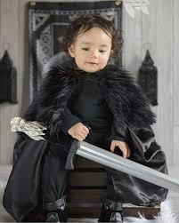satin or suede baby jon snow cloak baby gameofthrones cosplay