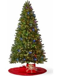 pre lit christmas trees bargains on pole trading co 7 1 2 foot highland pre lit