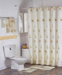 Gorgeous Shower Curtain by Interior Fetching Bathroom Decoration With Stainless Steel Shower