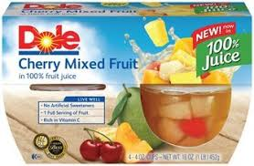 dole fruit bowls safeway dole fruit bowl just 89