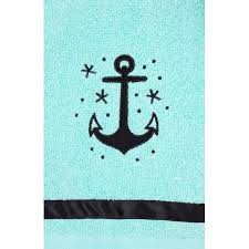 Aqua Towels Bathroom Amazon Com Sourpuss Clothing Anchor Bathroom Hand Towel Set Home