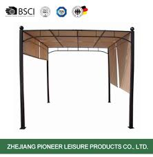 Metal Pergola With Canopy by Metal Pergola With Water Resistant Canopy Buy Gazebo With