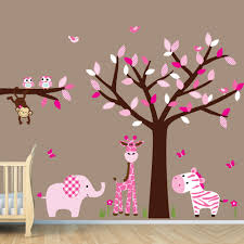 Jungle Wall Decal For Nursery Repositionable Room Nursery Jungle Wall Decals Monkey Decal