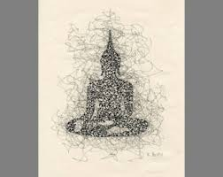 buddha drawing etsy