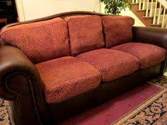 Fabric Leather Sofa Leather With Fabric Cushions Furniture Pinterest