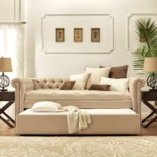 Double Bed Settee Bedroom Licious Daybed Sofa Couch Lounge Beige Ikea Lycksele