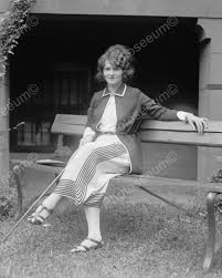 woman sitting on park bench 1922 vintage 8x10 reprint of old photo