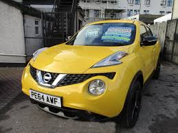 nissan yellow used nissan juke acenta premium yellow cars for sale motors co uk