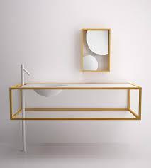 Bathroom Furniture Design Minimalist Bathroom Furniture In Larch Wood By Bisazza Bagno