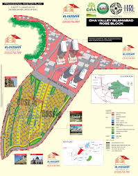 Map Rose Rose Block Dha Valley Islamabad