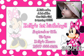 Minnie Mouse Invitation Card Custom Invitations Lewis Collection