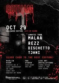 halloween new york city tickets for halloween at gotham ft malaa rezz webster hall at