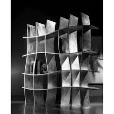 Silver Bookshelf Bookshelf In Silver Leaf Khaos Sherwood Design Giuliano