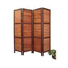 wooden room dividers amazon com saigon woven bamboo room divider kitchen u0026 dining