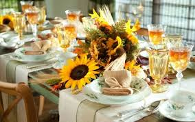 sunflowers thanksgiving table setting ideas 3214 home designs