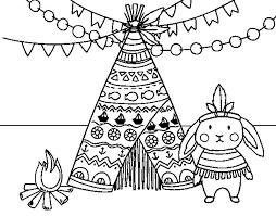 indian rabbit coloring coloringcrew