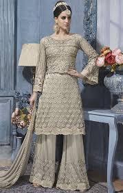 designer dress buy grey embroidered net designer dress for