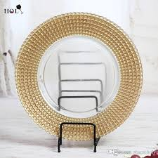 cheap wedding plates holy glass plate wholesale cheap gold ridged rimmed clear glass